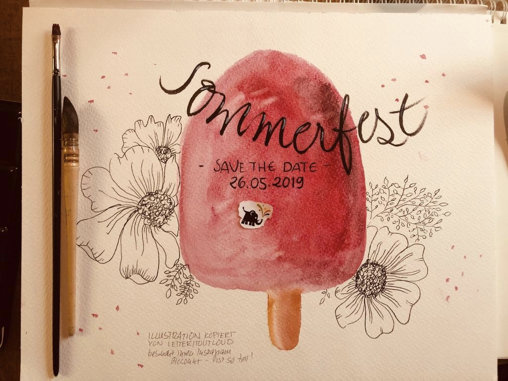 Sommerfest*SAVE THE DATE*26.05.2019