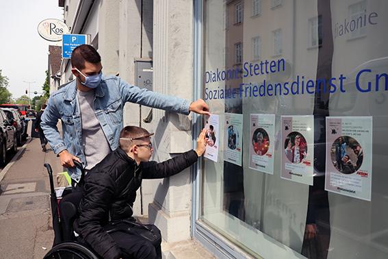 Plakatbotschaft am Gleichstellungstag